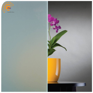 6MM ultra clear Satin Etched float Glass