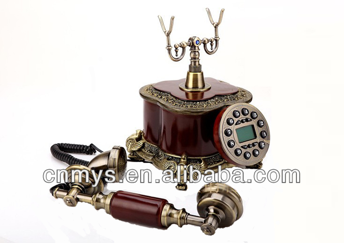 Wooden antique decorative telephone gifts for old men 2300A