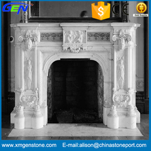 Indoor Decoration Cultured Carved Marble Fireplace