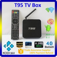 Best android tv box arabic channels Quad Core 4K Smart T95 android tv box