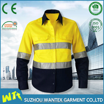100% cotton long sleeves hi vis t shirt safety life t shirt and workwear uniform life t-shirt