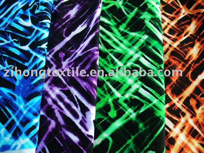 Wave Printed Swimwear fabric