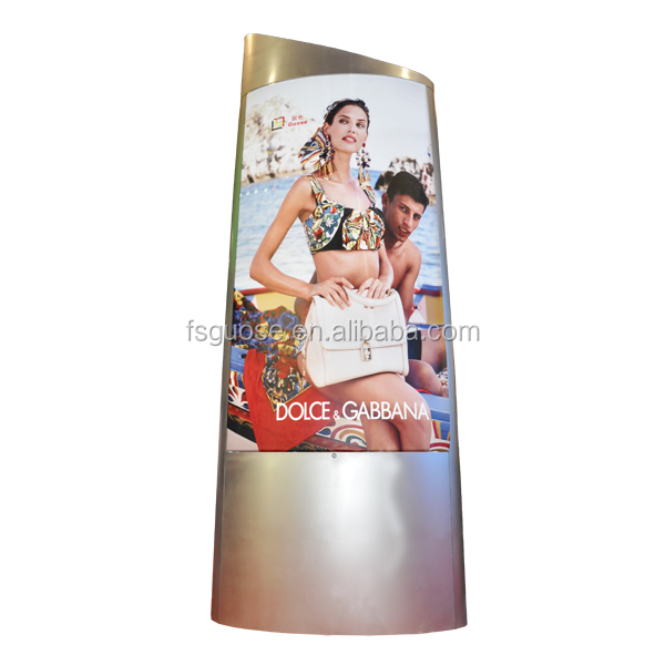 airport pillar advertising light box scroller