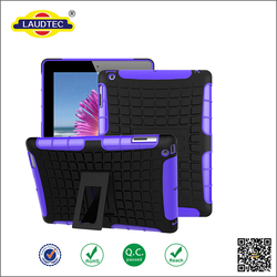 Two in One TPU&PC Shockproof back case cover For IPad 2 3 4 Pro ------- Laudtec