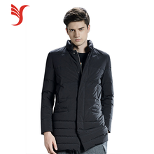 New style winter outdoor coat long mens black duck down jacket