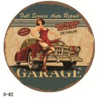 Classic Motorcycles Round Tin Metal Sign