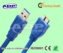 Blue usb a cable 3.0
