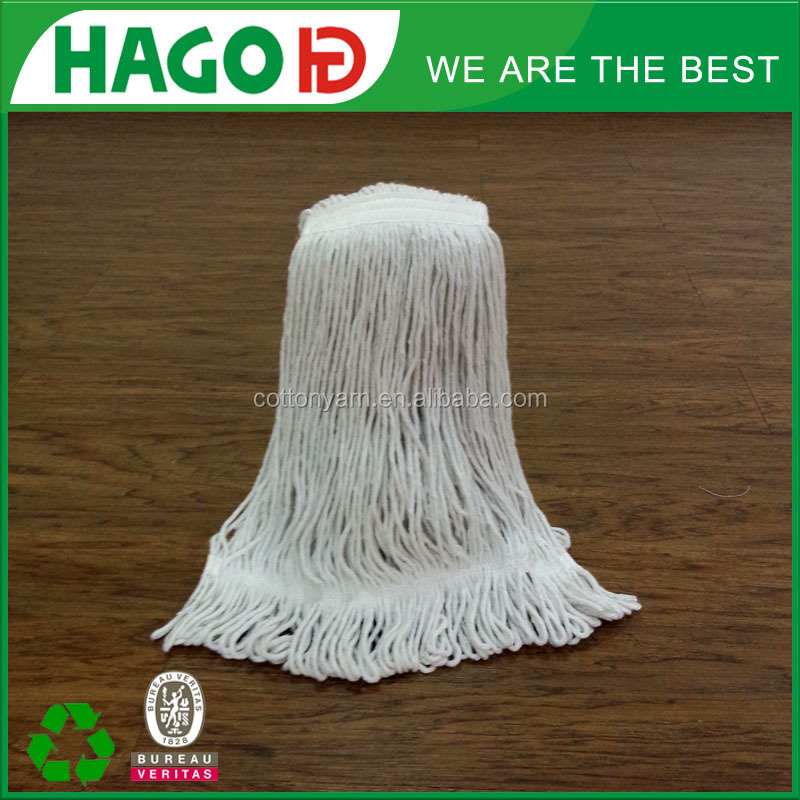 long cotton wooden handle mop