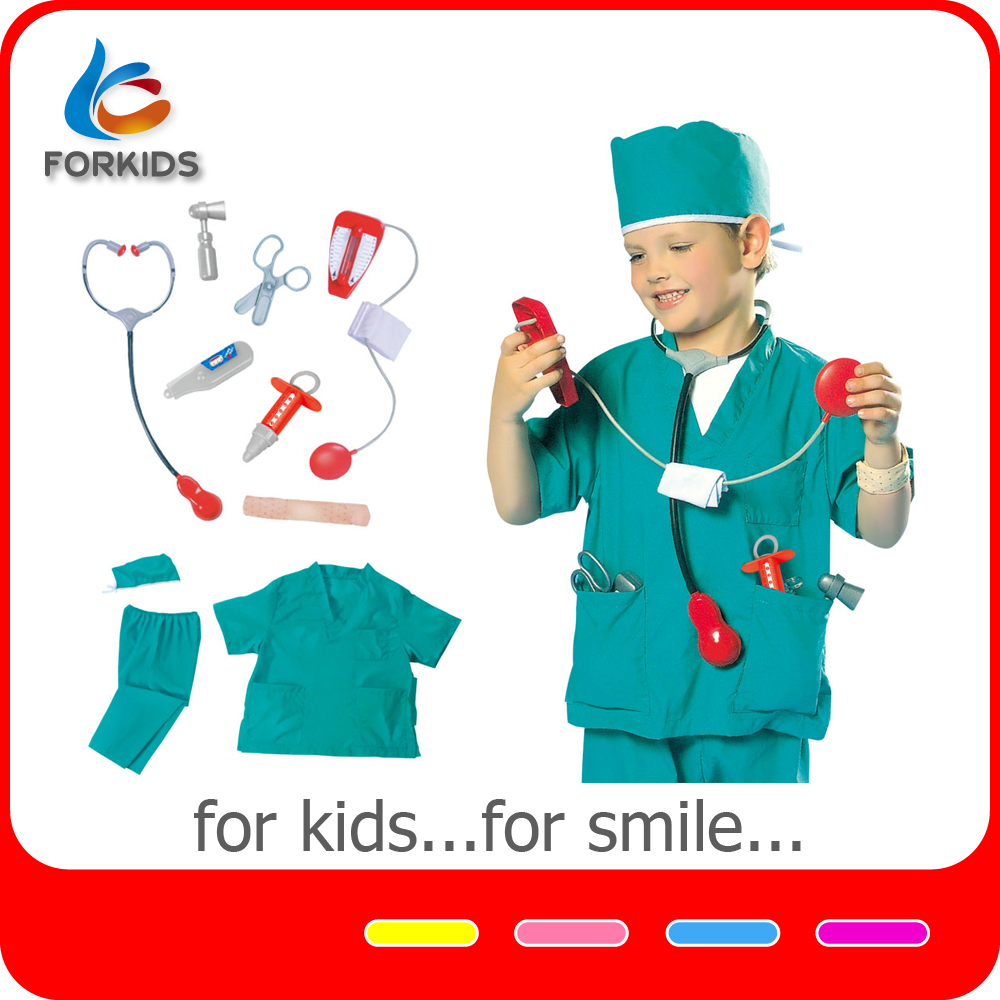 Kids doctor costume, operating table family doctor play set toys