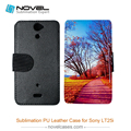 New Arrival Sublimation leather phone case for Sony LT25i