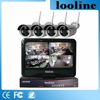 Looline 4CH 960P P2P Wifi Camera Waterproof Bullet Camera Home Security Camera System