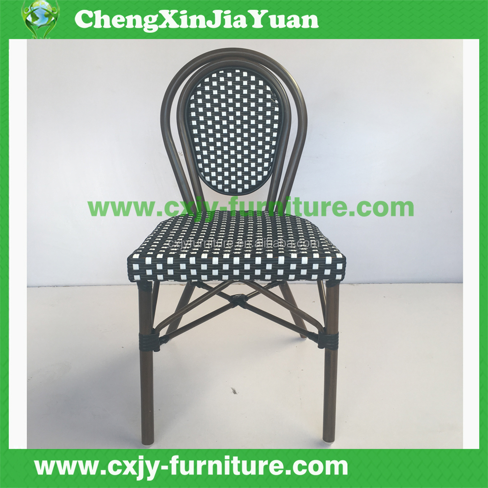 PE rattan material no folded french bistro rattan chairs B187-C75