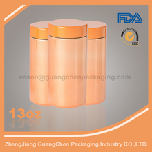 13oz HDPE Custom protein disposable plastic bottle
