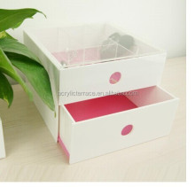 White Lucite Jewelry drawer Box,acrylic makeup organizer