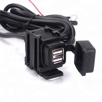 motorcycle charger USB Dual 12 V plug Power adapters 2.1a universal waterproof USB charger for ATV dirt bike Car