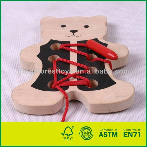 Cheap Kids Wooden Lacing Toy
