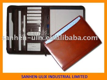PU MATERIAL DOCUMENT FOLDER WITH 20 SHEETS NOTEPAD