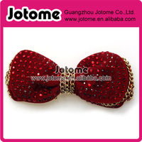 Red Fabric Bow Hair Clip Decorative