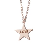 Custom chain necklace pendants with Name design Star/Wafer charm Love for couples birthday gift for her