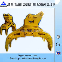 excavator wood grab , 360 degree rotate grab, mechanical grapple and hydraulic excavator grapple