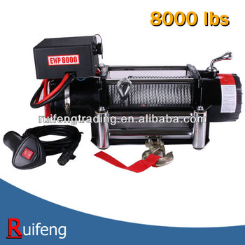 12V, 24V AUTO electric winch 8000lbs
