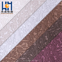 PU PVC Synthetic Leather for shoe for Sofa for Furniture with diamond mirror pattern