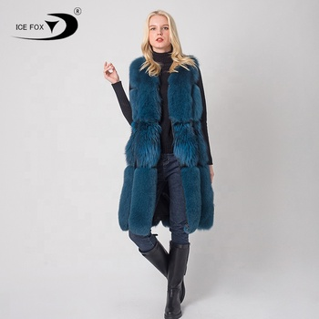 New Design Unique real fox fur vest women