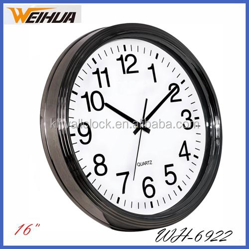 Home decor plastic rhythm wall clock