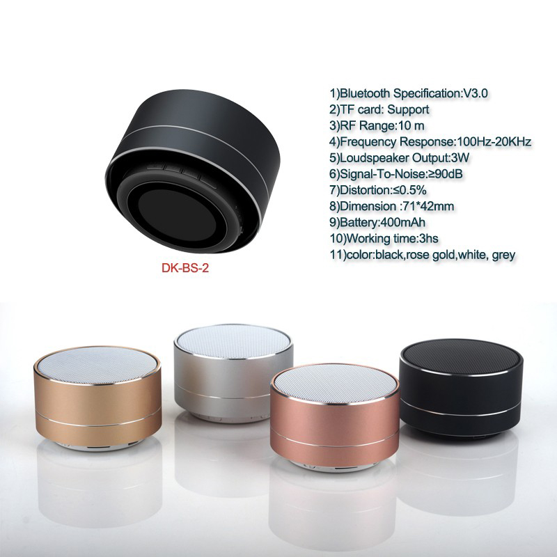 A10 wireless bluetooth speaker metal mini portable subwoof sound with Mic TF card FM radio AUX MP3 music