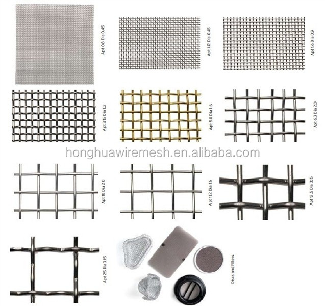 China factory stainless steel wire mesh used for filter