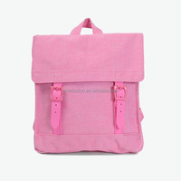 High quality pink school backpack china