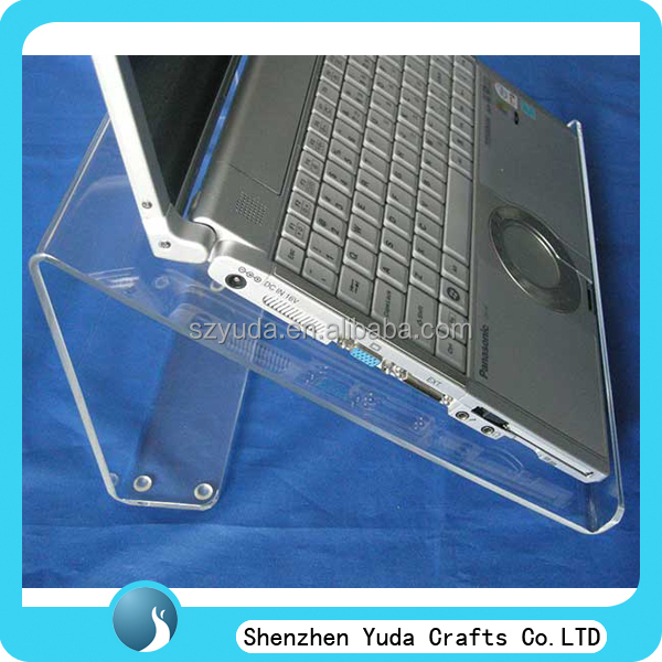 High quality acrylic laptop display stand with non-slip rubber feet