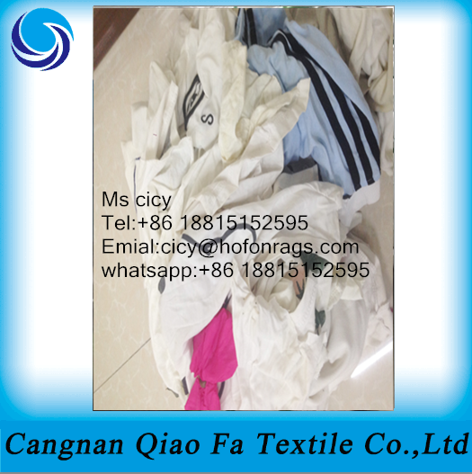 light color mixed cotton waste cloth,cotton cut piece cloth rags used for printing factroy