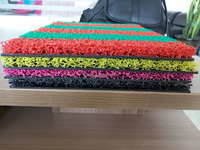 eco-friend and anti-slip double color pvc coil mat roll foam backing floor door outdoor mat