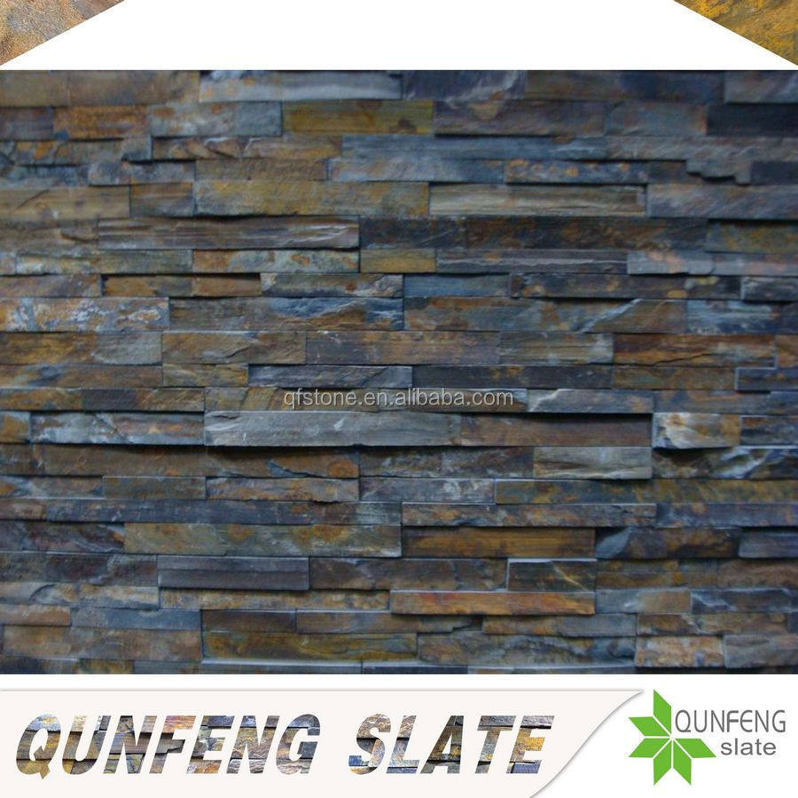cheap brown culture stone wall tile slate ledge stone