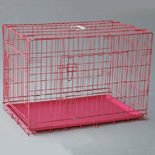 galvanized metal steel foldable transport animal pet cage dog kennel
