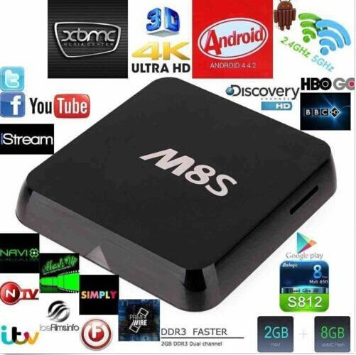 M8S Amlogic S812 Quad Core TV Box with Wifi 2GB RAM 8GB ROM
