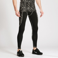 New fashion high quality 90% polyester 10% spandex dry fit breathable mens compression leggings wholesale