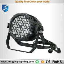 waterproof 54*3w rgbw bright led par DMX led par can stage light