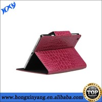 popular stand up leather case for iPad mini