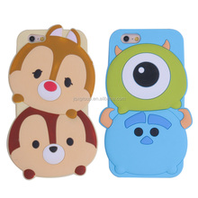 Lovely cartoon 3D silicon case for iPhone 6