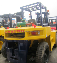 Used 10 ton Japanese Forklift , Kumatsu FD100-7 for sale, competitive price