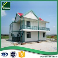 DESUMAN factory supplies CE customized high quality prefabricated light steel villa 2017