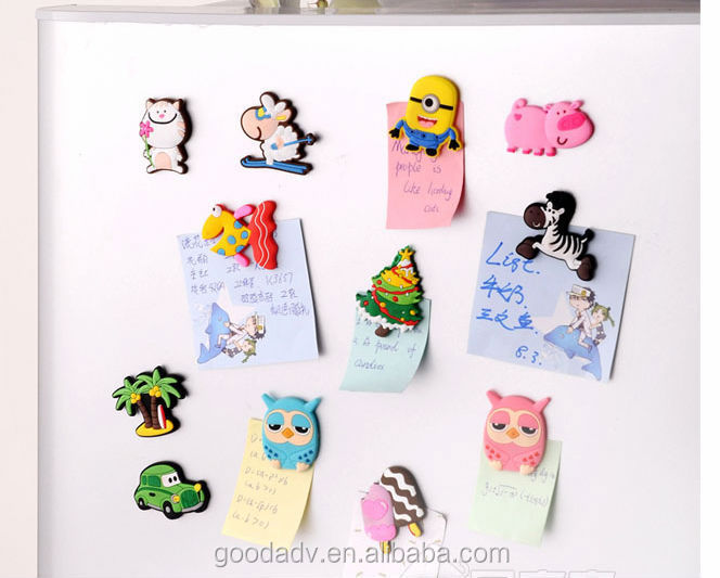 Customized gifts non-toxic 3d soft pvc rubber refrigerator magnet
