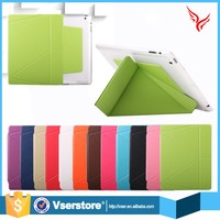 New product Leather Case Folding Flip PC+PU With Standing for ipad pro wallet case