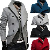 walson New fashion Men's coats Single-breasted British fashion woolen men jacket overcoat