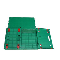 nute collapsible cheap square plastic vented crate