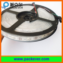 5m/roll, 5VDC 30LEDs per meter white PCB waterproof IP67 silicone sleeve ws2812B LED pixel strip