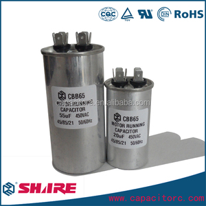 cbb65 capacitor 100uf 450V air cooler motors capacitor 53*125mm