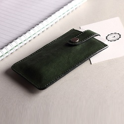 Customized brand Newest fashion sheep leather business card holder Slim